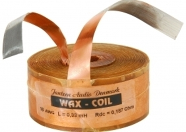Picture of Jantzen Wax Coil 1,800mH +/-2% 0,38Ω +/-5% 14AWG OD90 H37