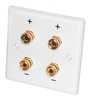 Picture of  Dynavox - LS wall plate white for 2 loudspeakers